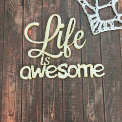 Чипборд Life is Awesome, 5х4 см