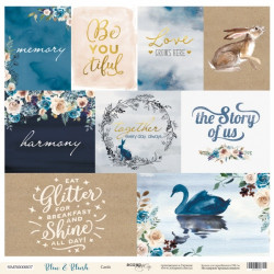 Лист бумаги Blue & Blush - Cards, 30х30 см