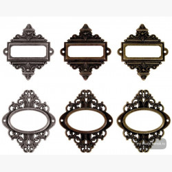 Металлические украшения Tim Holtz Ornate Plates, 6 шт