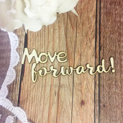 Чипборд Move forward!, 6х2,3 см