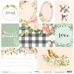 Лист бумаги Peaches & Cream - Cards, 30х30 см