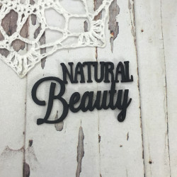 Чипборд Natural Beauty, 4,5х2,7см, черный